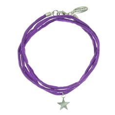 Silk & sterling silver wrap bracelet £22.00  The perfect gift for someone who is the star in your eyes!