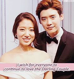 PARKSHINHYE AND LEEJONGSUK THANK YOU GIFS - credit pienocchio.tumblr.com
