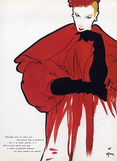 Balenciaga coat from 1955 by Rene Gruau