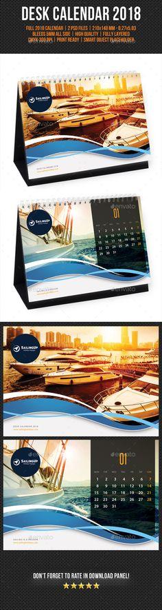 Creative Desk Calendar 2018 V08