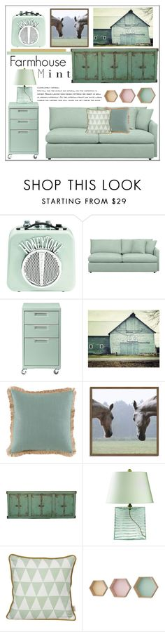 """""""Farmhouse Mint"""" by pat912 on Polyvore featuring interior, interiors, interior design, home, home decor, interior decorating, Crate and Barrel, CB2, Lacefield Designs and West Elm"""