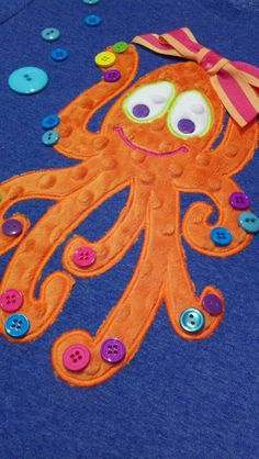 Funky Olivia Octopus Machine Applique Designs by TheAppliqueJunkie, $4.00