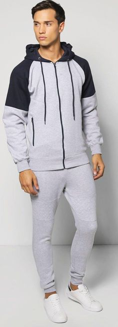 Raglan Hooded Tracksuit - Loungewear  - Street Style, Fashion Looks And Outfit Ideas For Spring And Summer 2017