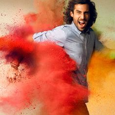 taking the trendiness of holi powder parties and using it boast their color line lois-jeans-ss2013-high-2-01