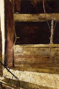 Hayloft in Olson's Barn, watercolor by Andrew Wyeth