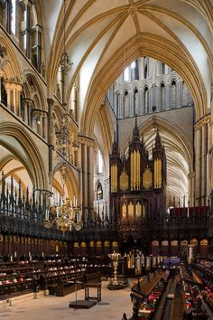 Imagine the sound of the boy's choir singing an Evensong or an organ concert Lincoln cathedral, Lincoln
