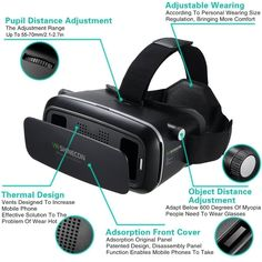 The surface of this 3D VR glasses is matte and it also uses a high-definition optical resin lenses. Turn your smart phone into the ultimate 3D machine for 3D games and split screen movies; works with over 300+ iOS/Android virtual reality apps on Apple App Store and Google Play Store. Search VR or some other related keyword on Google Play or APP store. A truly fun and immersive experience for any age.