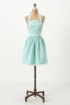 Apron from Anthropologie...cute! Chris bought this one for me, ties in perfectly with my kitchen with an island!