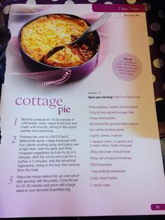 Cottage pie slimming world