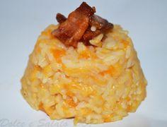 Risotto alla zucca con gorgonzola e pancetta, ricetta golosa   Dolce e Salato DOP