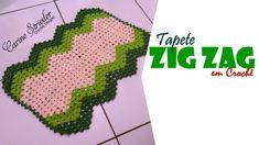 Tapete de crochê com Zig Zag na Horizontal por Carine Strieder