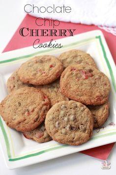 Chocolate Chip Cherry Cookies | Sweetopia