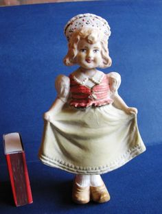 USSR Soviet figurine Woman girl doll rocking sarafan Multi-Color Hand made rare #ArtDeco #6