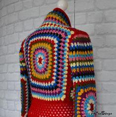Items similar to Crochet coat Jacket Granny square coat Female cardigan Scarf Handmade coat Fashion design Autumn coat Boho coat Red coat Winter crochet coat on Etsy - Products Boho Crochet, Crochet Coat, Crochet Mittens, Crochet Jacket, Crochet Amigurumi Free Patterns, Crochet Slippers, Crochet Clothes, Crochet Granny, Crochet Fashion