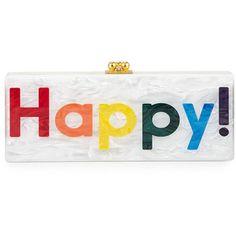 Edie Parker Flavia Happy Box Clutch