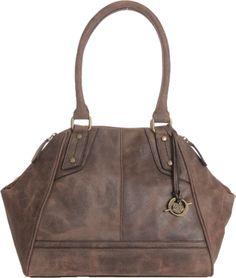 Born Tristen Satchel Women's Handbags (Anthracite Savage Leather )