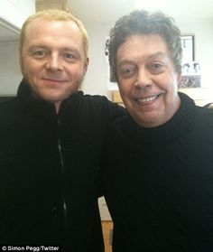 Simon Pegg & Tim Curry. How did the world not explode with the awesomeness of them being in the same room?
