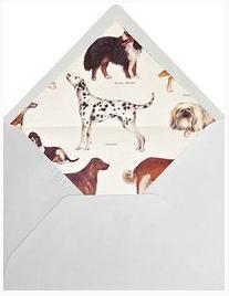 Para amantes de los perros, invitaciones de flor de asoka/  Wedding invitations for dog lovers