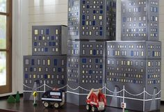 Don't Throw Away the Box - Construct a Metropolis with Recycled Cardboard City Building Blocks!