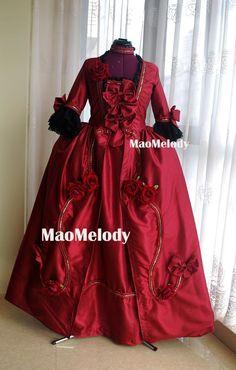 Marie Antoinette Baroque Cosplay Costume Dress HO23 | eBay