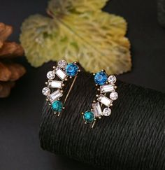 Add glam and shine to your evening ensembles with these stud earrings that are totally spectacular to look at!