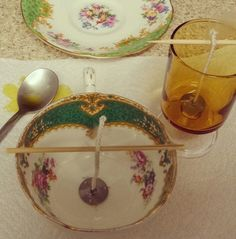 teacup candle tutorial by Tink's treasures