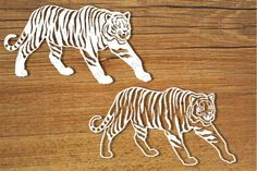 Tigers SVG files for Silhouette Cameo and Cricut. By FantasticoPiero