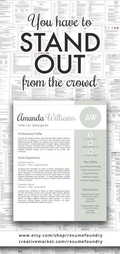 amazing resume template instant download use with microsoft word read our reviews