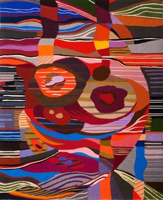 Soul Mates - 103in x 83.5in - 262cm x 213cm  woven by Ulrika Leander