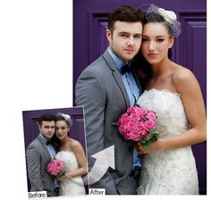 How to Photoshop wedding photos: fast face lightening
