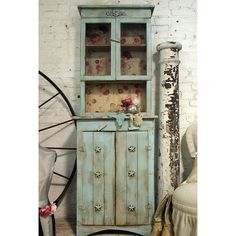 PAINTED FURNITURE Painted Cottage Chic Shabby Aqua Farmhouse