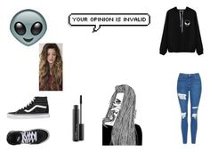 """""""fr tho"""" by maryjsullivan ❤ liked on Polyvore featuring Topshop, Vans and MAC Cosmetics"""