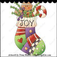 Gingerbread Joy 1 Clip Art Single