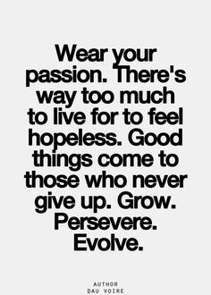 wear your passion....