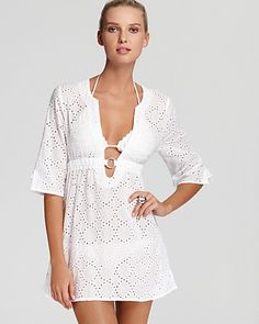 f153e72597d09 Echo Eyelet Ring Dress Swimsuit Cover-Up Women - Bloomingdale s