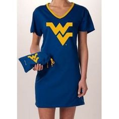 West Virginia - Nightshirt in a Bag --- http://www.amazon.com/Virginia-Mountaineers-Nightshirt-Sleepwear-Carrying/dp/B002KPE392/?tag=zaheerbabarco-20