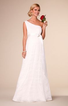 48e1cd06f3982 Gia Maternity Wedding Lace Gown Ivory by Tiffany Rose