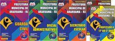 Apostilas Concurso Prefeitura Municipal de Araruama / RJ - 2015: - Cargos: Secretário Escolar, Oficial Administrativo I, Guarda Civil e Professor II - 1º ao 5º Ano
