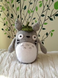 Knitted Totoro PATTERN by emze on Etsy, $5.50