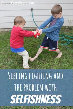 What is really going on when kids fight over toys, turns, and every little thing?  And what's a weary mother to do?  {From a Christian perspective}