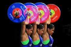 Extra strength:    An in camera multiple exposure of Mary Opeloge of Samoa in…