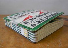 Retro Leaves BINGO Book Ochre/Forest by maydaystudio on Etsy, $30.00