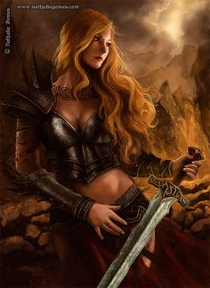 women warriors in legend and mythology photos   The Bringer of Justice by nathaliagomes