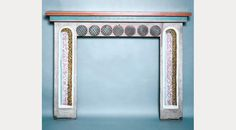 mantle decorated by Vanessa Bell