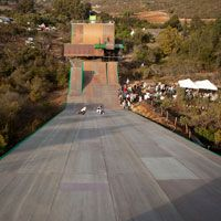 view from the mega ramp at Bob Burnquist's house