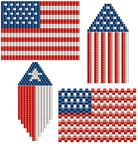 Beaded American Flag Pack Pattern by Dana Hill at Bead-Patterns.com