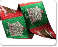 Red and Green Little Cake Ribbon - Laura Foster Nicholson