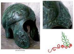 Coif tracic din bronz, a doua jumătate a secolului V î. Lion Sculpture, Statue, Art, Art Background, Kunst, Performing Arts, Sculptures, Sculpture, Art Education Resources