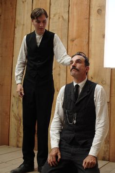 Daniel Day-Lewis & Paul Dano in 'There Will Be Blood', 2007.