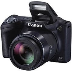 Canon PowerShot SX410 IS 20 Megapixel Compact Camera - Black - 3 LCD - 16:9 - 40x Optical Zoom - 4x - Optical (IS) - TTL - 4608 x 3456 Image - 1280 x 720 Video - PictBridge - HD Movie Mode